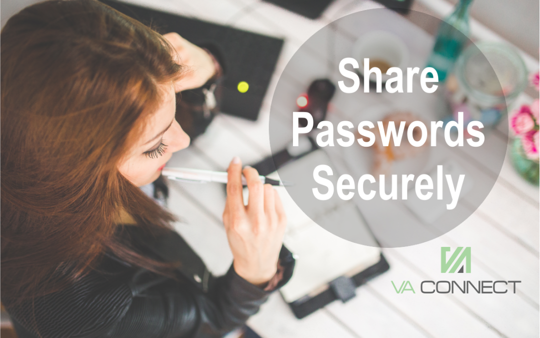 Securely sharing Passwords with your Virtual Assistant